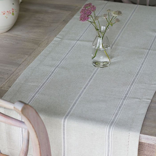 Charcoal Gustavian Table Runner