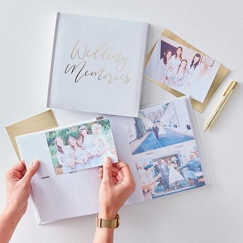 White and Gold Wedding Photo Album