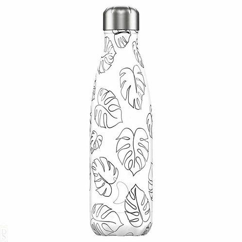 Line Art Leaves 500ml Chilly's Water Bottle