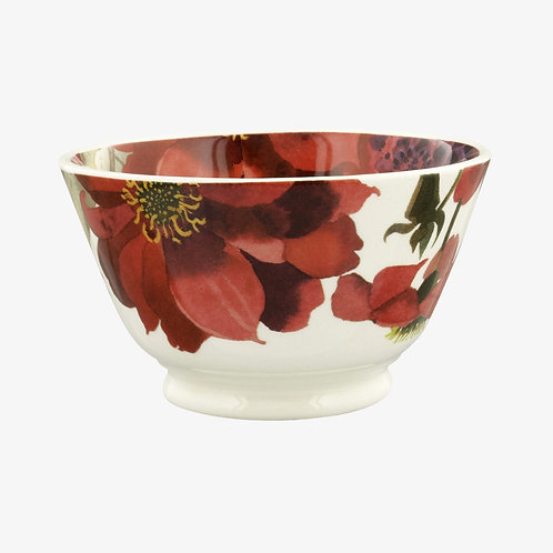 Flowers Red & Pink Dahlias Small Old Bowl