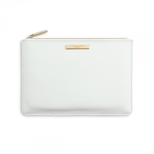 Pebble Perfect Pouch - White -24x16cm