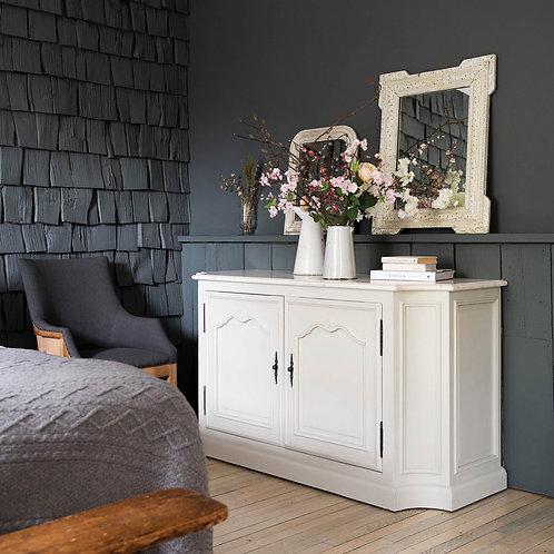 Albury Double Door Sideboard with White Marble Top