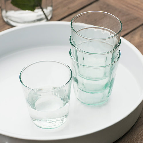 Recycled Glass Set of 4 Tumblers