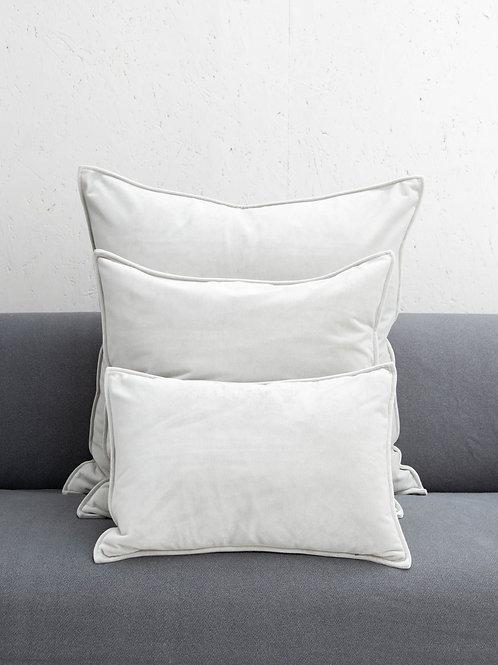 Grey Square Velvet Cushion
