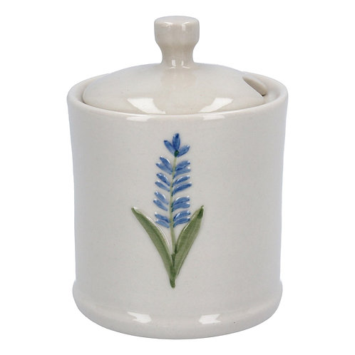 Ceramic Mini Honey Pot 10cm - Lavender