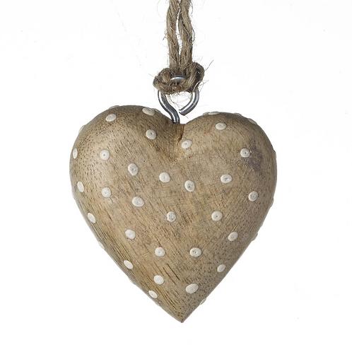 Tiny Natural Spotty Heart