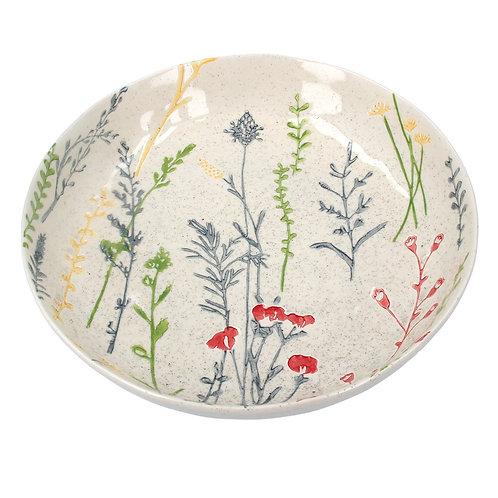 Ceramic Shallow Bowl - Meadow