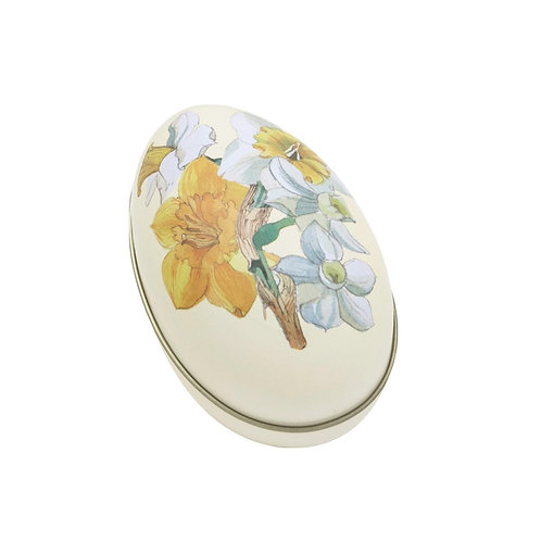 Flowers Spring Daffodils Medium Tin Egg