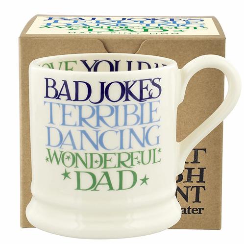 Blue & Green Toast Wonderful Dad 1/2 Pint Mug Boxed