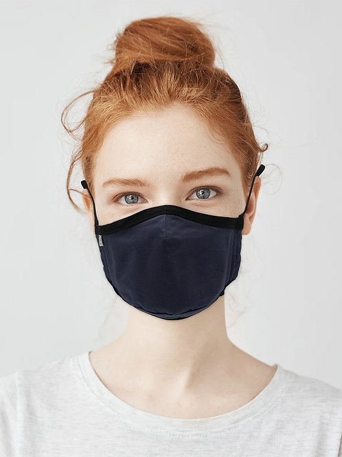 Kids / Teen Organic Cotton Face Covering Navy