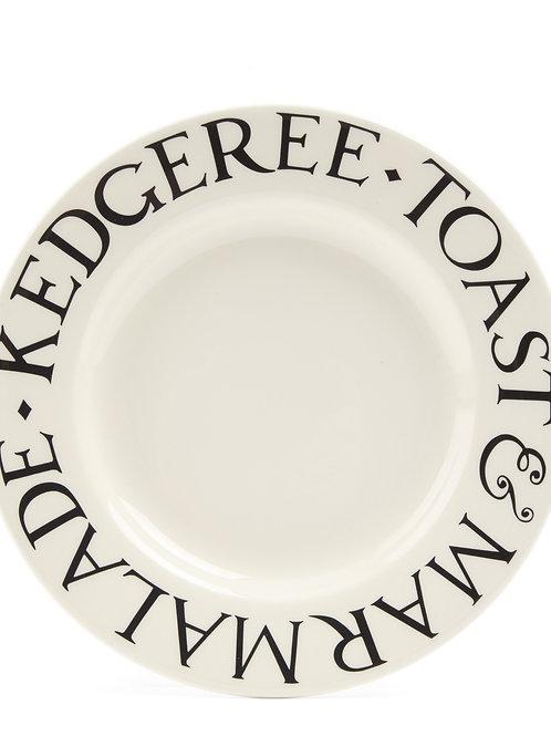 Black Toast 8 1/2 Inch Plate