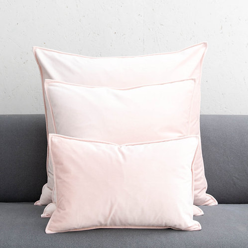 Pink Square Velvet Cushion