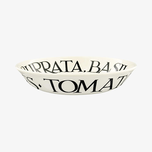 Black Toast Tomato Salad Small Pasta Bowl