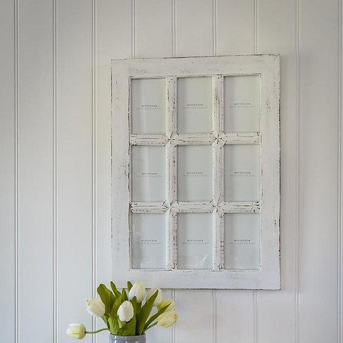 White Windowpane Photo Frame