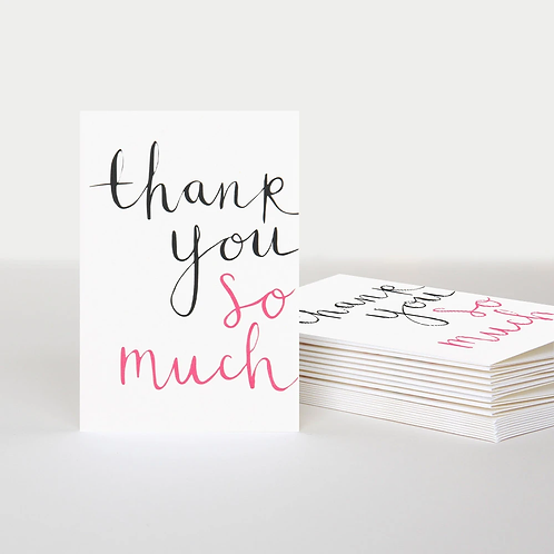 So Much Thank You Notecards Pack of 10