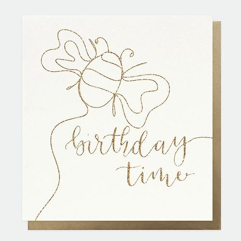 Eco Glitter Notes Birthday Card