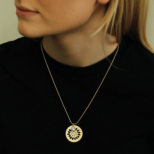 DAISY NECKLACE GOLD PLATING