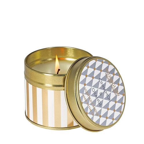 Seasonal Collection - Cinnamon & Orange - Candle Tin