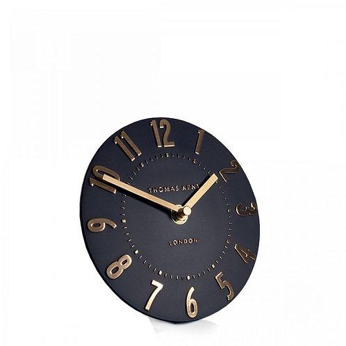 "6"" Mulberry Mantel Clock Onyx"