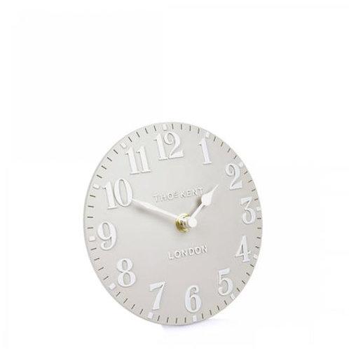 6 Inch Dove Grey Mantel Clock