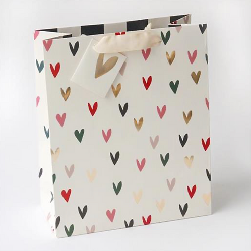 Scattered Hearts Large Gift Bag