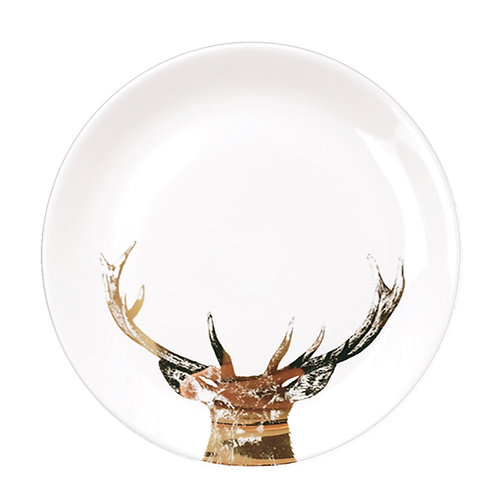 GOLD IMPERIAL STAG – DINNER PLATE