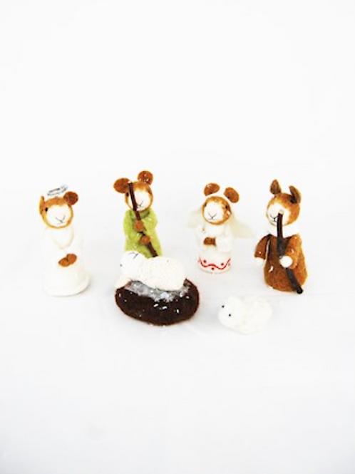 Mice Nativity Set - 6 Pieces