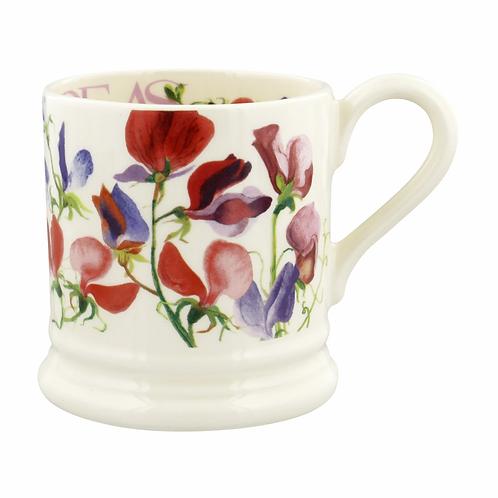 Flowers Sweet Pea Multi 1/2 Pint Mug