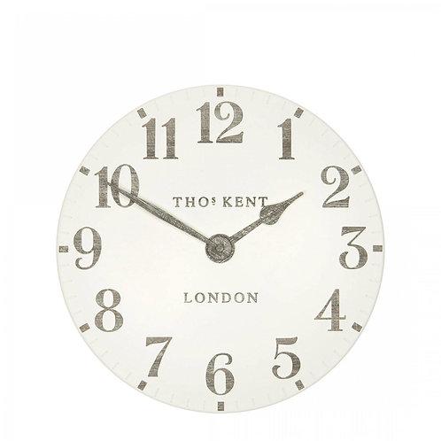"12"" Arabic Wall Clock Limestone"