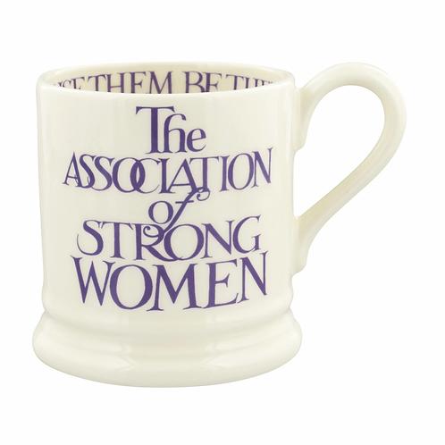 Purple Toast Strong Women 1/2 Pint Mug
