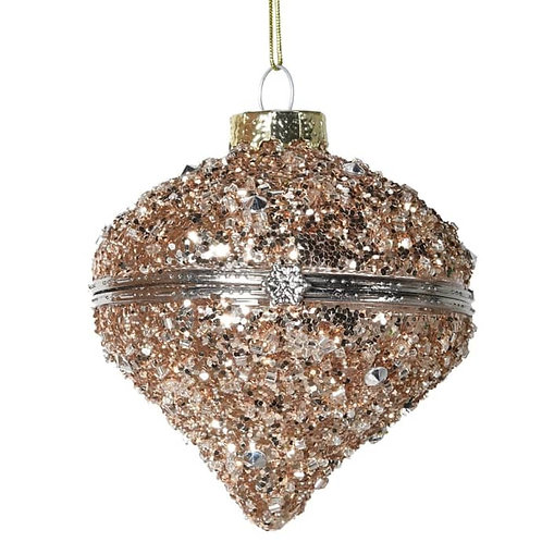 Gold Glitter Onion Box Bauble