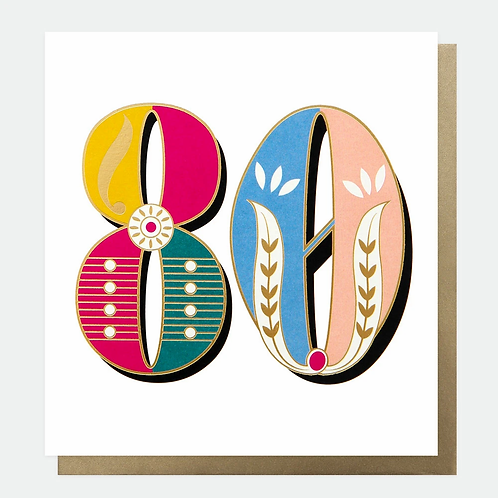 Carnival 80th Birthday Card