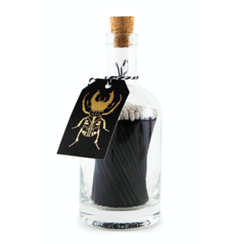 Black Bug with Black Sticks Match Bottle