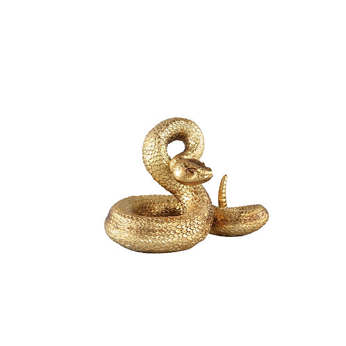 Liane Gold poly snake statue low