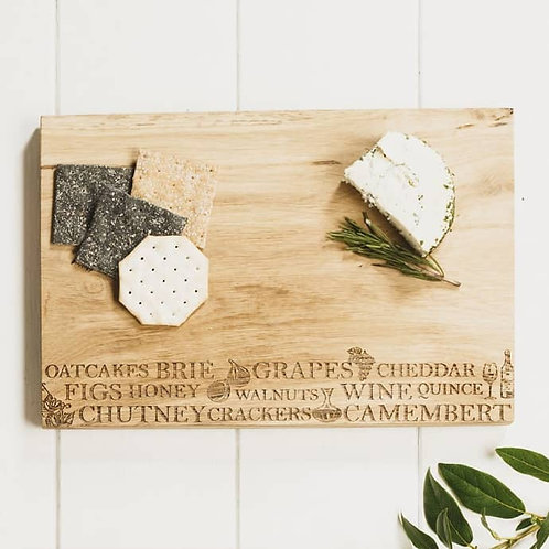Etched Cheese Serving Board 30cm