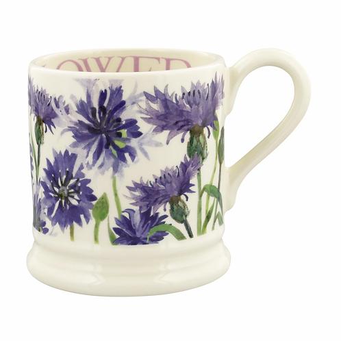 Flowers Cornflower 1/2 Pint Mug