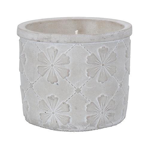 Floral Trellis Citronella Candle, Large