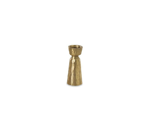 Jahi Brass Candlestick - Brushed Gold - Small