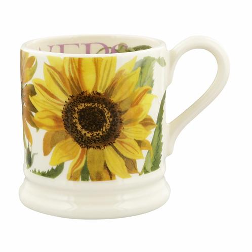 Flowers Sunflower 1/2 Pint Mug