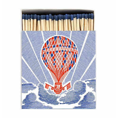 Balloon Large Matches in Square Printed Matchbox