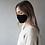 Thumbnail: Adult Organic Cotton Face Covering Black