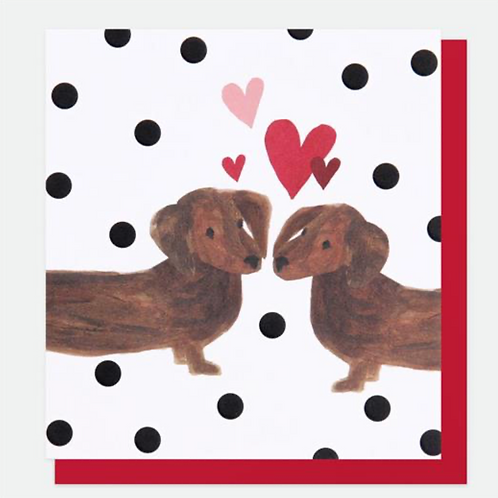 Sausage Dogs Valentines Day Card