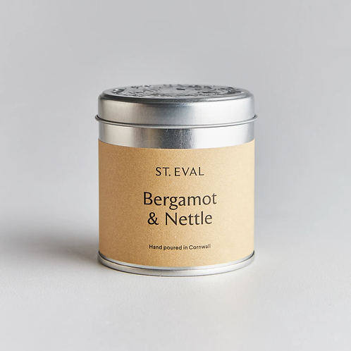 Bergamot & Nettle Scented Tin Candle