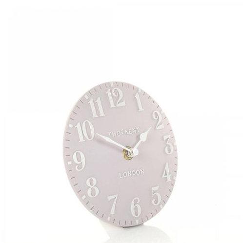 6 Inch Arabic Dusty Pink Mantel Clock