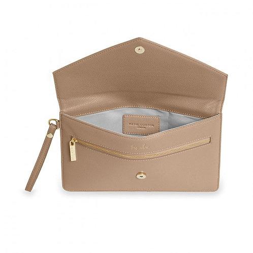 Esme Envelope Clutch Bag | Taupe