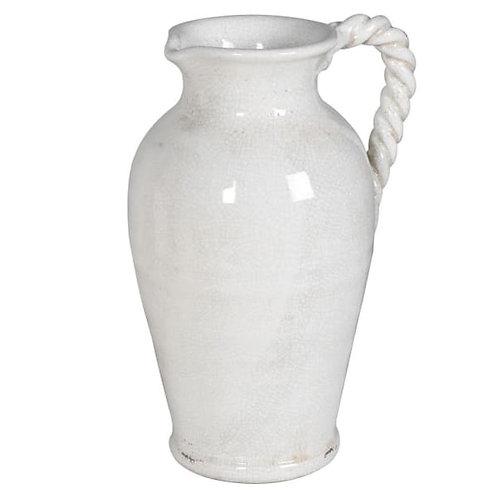 Off White Ceramic Twist Jug