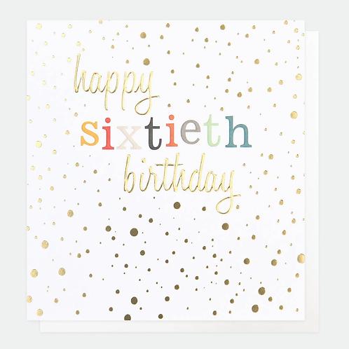 Gold Confetti 60th Birthday Card