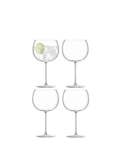 Set of Four Borough Balloon Glasses