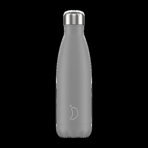 Monochrome Grey 500ml Chilly's Water Bottle