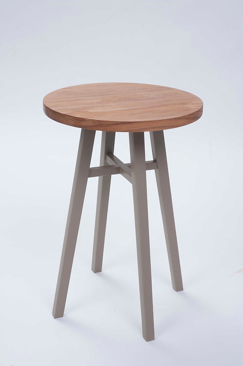 Tenby Side Table with Farrow & Ball Painted Legs 40cm - Shale